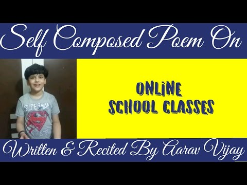 Poem on online classes| Bhumika Verma | Montfort School | Online Classes | Poem | Kids Poem from YouTube · Duration:  1 minutes 27 seconds