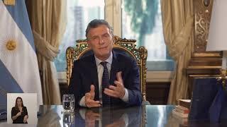 Cadena Nacional del Sr. Presidente Mauricio Macri