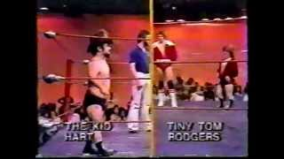 1981 Tiny Tom & Roy Rodgers vs Billy the Kid & Jimmy Hart MEMPHIS WRESTLING