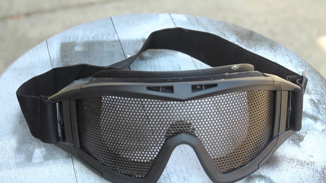 Airsoft Mesh Goggles Over Glasses