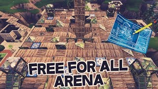 BUILDS A * SICK * FREE FOR ALL ARENA IN TILTED TOWERS!! 😱😱-Fortnite Battle Royale in English