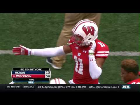 Akron at Wisconsin - Football Highlights
