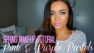 Spring Makeup Tutorial: Pink & Purple Pastels Thumbnail