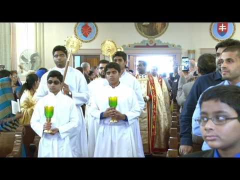 St. Mary's Syro Malankara Catholic Church, Inaugural Holy Eucharistic Celebrations