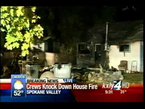 Early Morning Fire Hits Spokane Valley Home