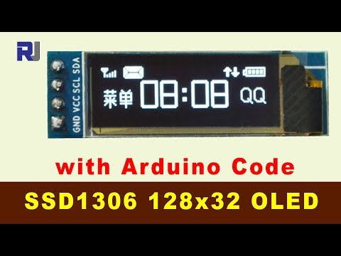 How to use SSD1306 128x32 OLED Display I2C with Arduino code