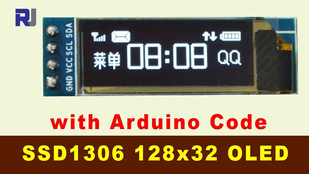Arduino code and Video for SSD1306 OLED 128 x 32 Display