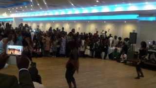 Congo & Ghana dancers dancing in wedding