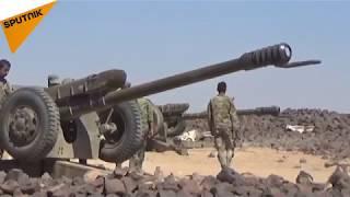 """الجيش السوري يسيطر على آخر موارد """"داعش"""" المائية ويدك قناصيه في البادية (فيديو)"""