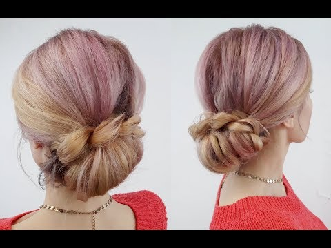 Super Easy Hairstyle Easy Elegant Braided Bun  Awesome