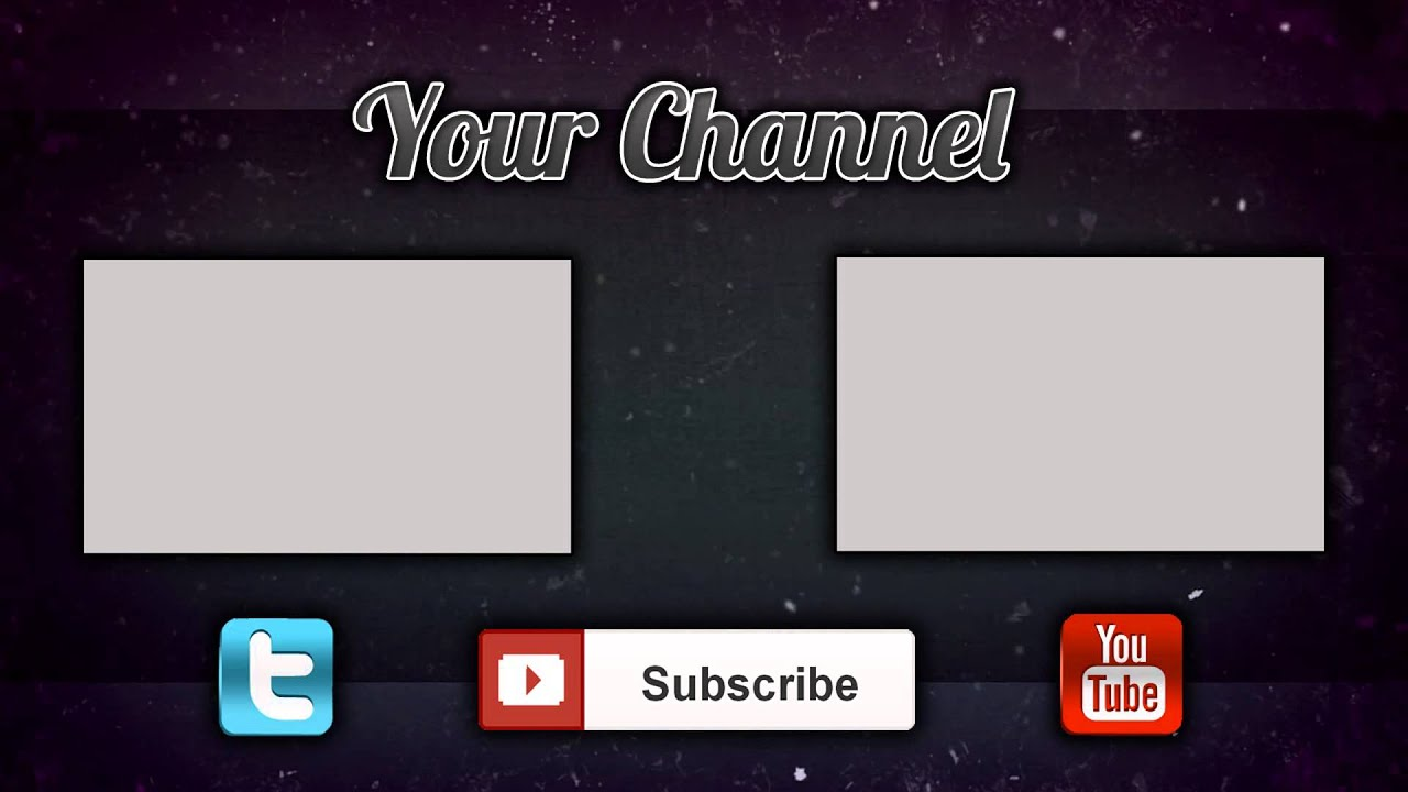 Camtasia studio 3d outro template youtube for Free outro template