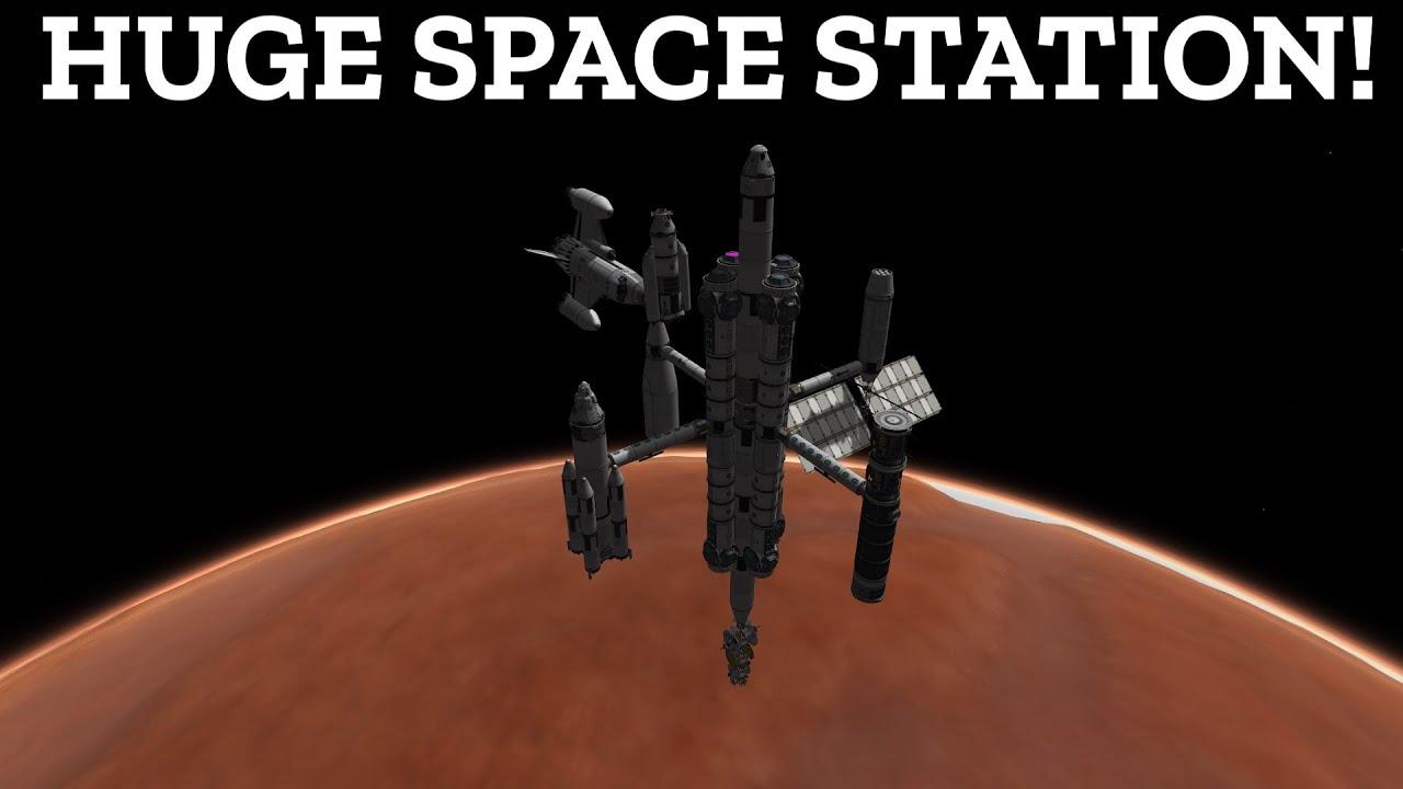 Download KSP HUGE DUNA SPACE STATION! Duna Colony Part 1 | Kerbal Space Program [stock]