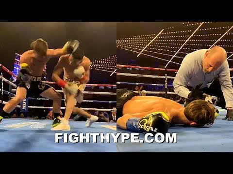 (MUST SEE!) TEOFIMO LOPEZ FRIGHTENING ONE-PUNCH KNOCKOUT OF MENARD; OUT COLD FACE-PLANT