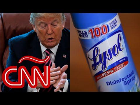 """Trump miente al decir que fue """"sarcástico"""" al hablar de inyectar desinfectante contra el covid-19"""