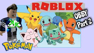 ROBLOX Pokemon OBBY Part 2 Game Play on Xbox One - Making our way to Rattata's Mystery Maze