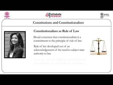 Constitutions and constitutionalism (Law)