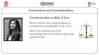 Constitutions and constitutionalism (Law)