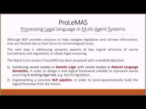 Livio Robaldo - The ProLeMAS project: representing existing legislation with logic