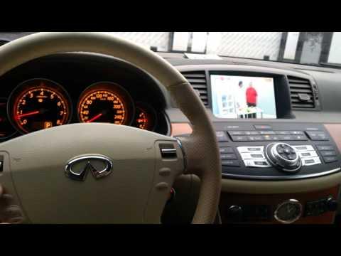 Infiniti M / Nissan Fuga (2005-2010)-установка оборудования 2015г,TV,DVD, видео с телефона.