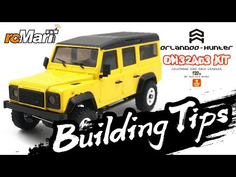 Orlandoo | 1/32 Crawler w/ Defender D110 Body @Building Tips #OH32A03-KIT