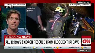 All the 12 boys and their  coach rescued from Thai cave