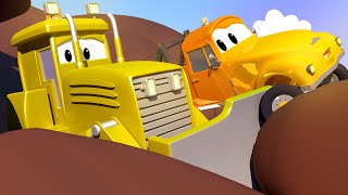 Billy the BULLDOZER gets a rock caught in one of his tracks!  - Tow the Tow Truck Cartoon for Kids