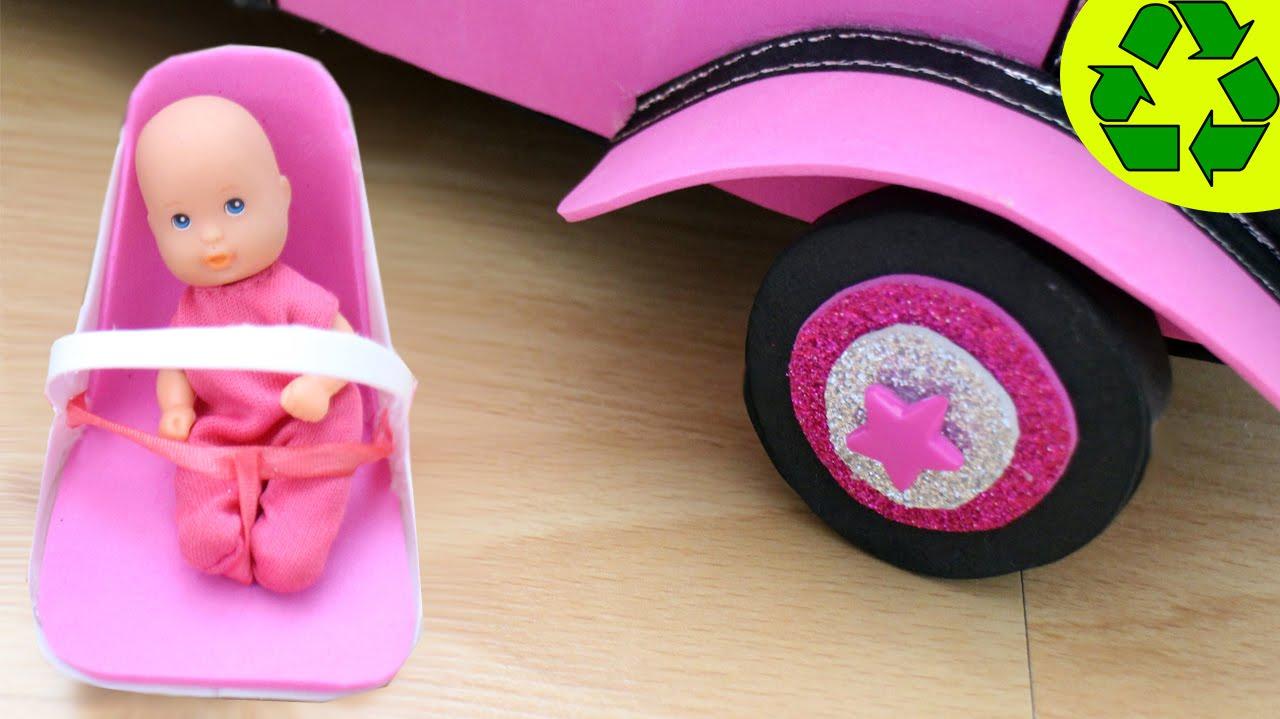 Diy miniatura asiento de seguridad para el coche y los for Asiento para carro bebe