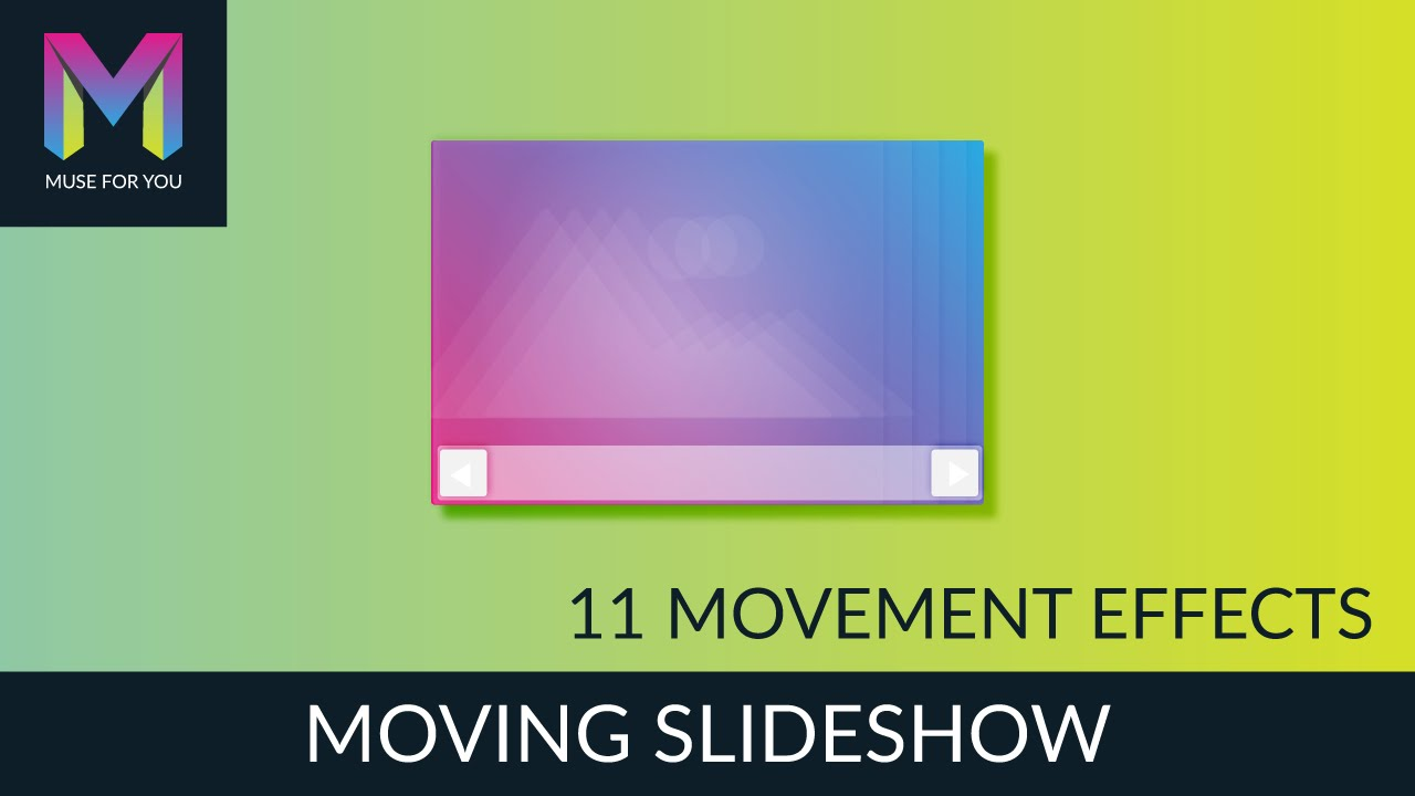 Moving Slideshow Widget | Adobe Muse CC | Muse For You