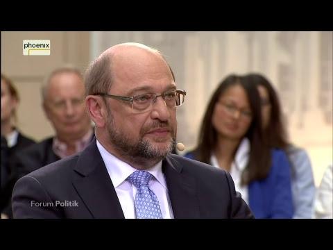 Forum Politik live: Martin Schulz im Gespräch mit Michaela Kolster und Stephan Detjen