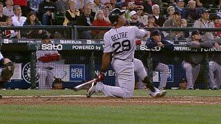 BOS@SEA: Beltre hits long home run on one knee