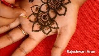 Simple Arabic Mehndi Designs For Hands For Beginners #Latest Mehndi Designs By Rajeshwari Arun