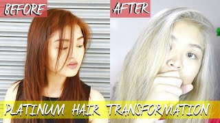 HOW TO GET PLATINUM BLONDE HAIR for 560php!  | Arah Virtucio