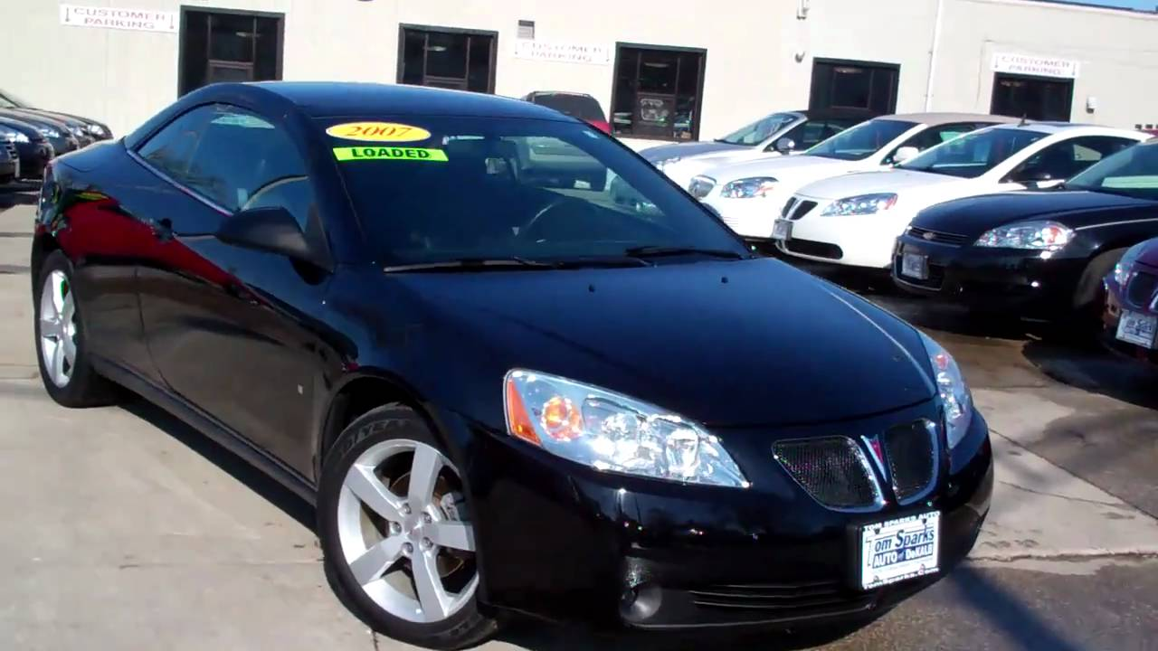 2007 Pontiac G6 Gt 2 Door Convertible Dekalb Il Near Rockford You