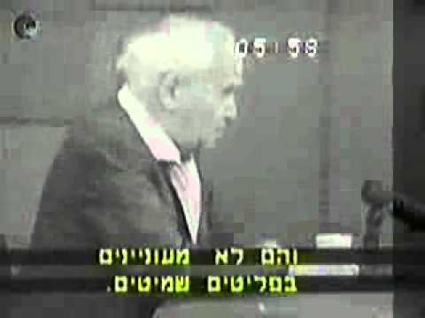 Ben gurion in a rare interview about the peace issue-  Rare footage