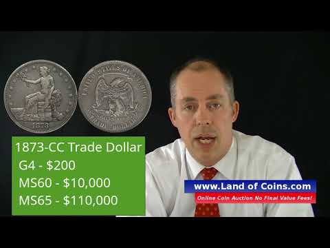 1873-CC Trade Dollar Facts and Price Value | Land of Coins .com