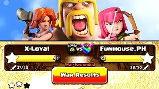 WHICH CLAN  WON BY 0.8% | Using the Best TH9 + TH10 ATTACKS in Clash of Clans