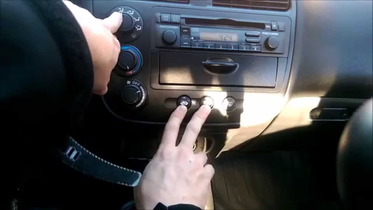 hight resolution of how to turn off ac on defrost in 2001 2005 honda civic improves power and fuel economy youtube