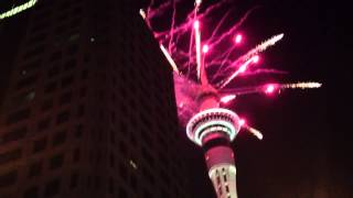 More fireworks display at Sky tower 1/1/13