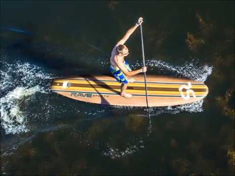 RAVE Sports Bamboo Soft Top Stand Up Paddle Board (SUP)