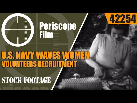 WORLD WAR II  U.S. NAVY WAVES   WOMEN VOLUNTEERS  RECRUITMENT FILM  REPORT TO JUDY 42254