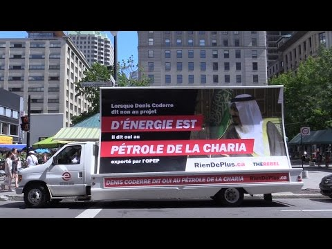 Liberal Mayor Denis Coderre banned our billboard in Montreal -- so we put it on a truck!