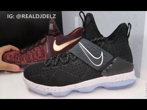 53ba06180ed6 Nike Lebron 14 GS Grade School Sneaker Review + Comparison With KD 9 ...