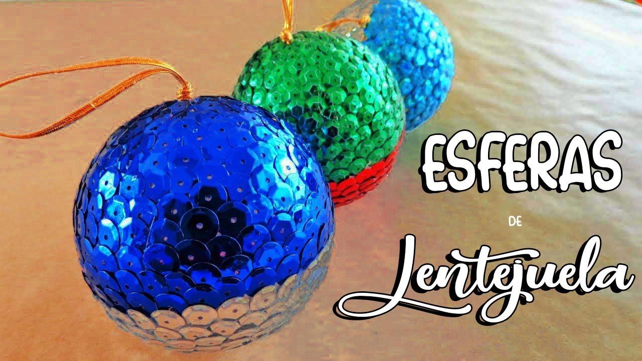 Haz esferas navide as esferas de lentejuela sin for Dibujos de navidad bolas