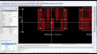 Insert Design For Pergola Into A Gcadplus Landscape Drawing