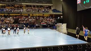 U20 Női kézilabda döntő - A döntős csapatok bevonulása