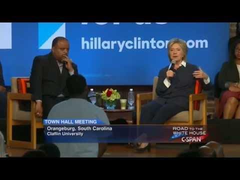 Hillary Clinton Town Hall Meeting in Orangeburg South Carolina