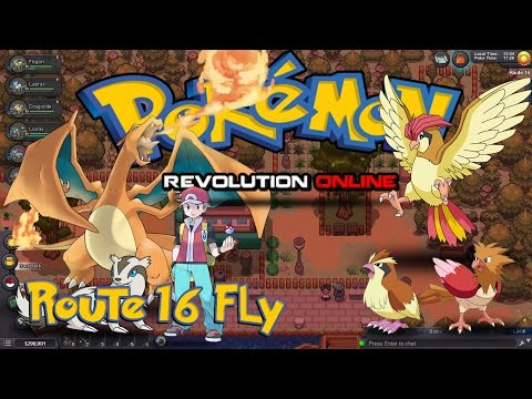 Pokemon Revolution Online PRO 2017 - Kanto - Route 16 HM Fly quest walkthrough