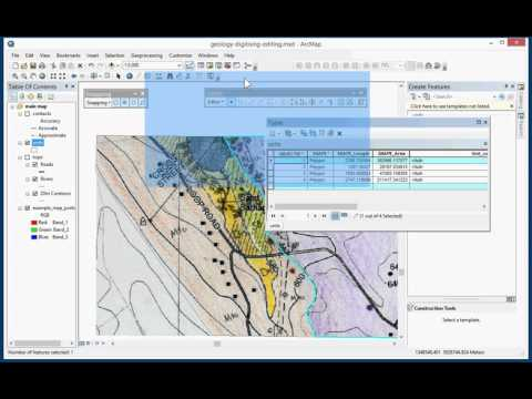Digitising a Geological map in ArcGIS Desktop 10.3 (Part 3 of 4)