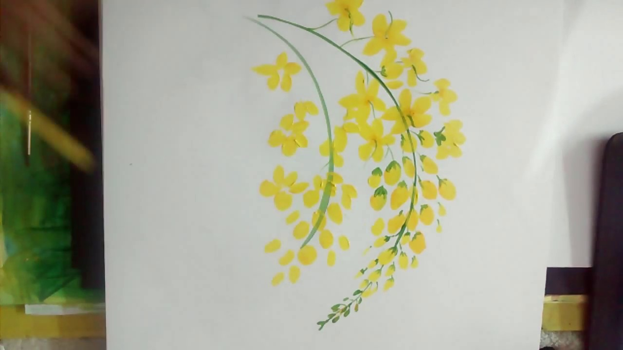 Quick And Easy Cassia Fistula Simple And Easy Acrylic