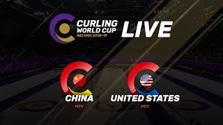 China v United States - Men - Curling World Cup Grand Final - Beijing, China